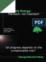 Venture Capitalist Vinod Khosla on Renewable Energy, 2009
