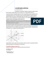 Introducción de coordenadas esféricas
