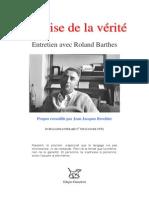 Barthes La Crise de La Verite