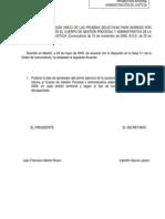 Acuerdo Del Tribunal Calificador de 28 de Mayo de 2009. APROBADOS PRIMER EJERICIO GES PI