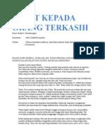 Taufan S. Chandranegara - Surat Kepada Orang Terkasih - Monolog