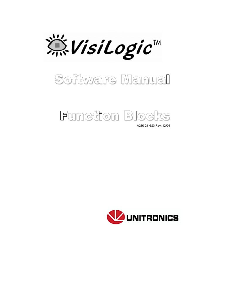 VisiLogic Software Manual-Function Blocks | Parameter