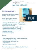 Arduino Info DHT11 Humidity TempSensor