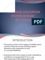 ''NATIONAL EDUCATION SYSTEM IN IRAN'' -Pre-School
