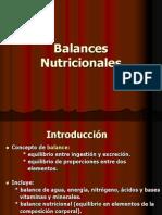 Balances Nutricionales