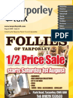Tarporley Talk August 2009