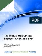 2011_psu_Mutual Usefulness between APEC and TPP - October2011.pdf