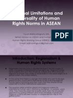 Regional limitation and Universality of Human Rights Norms2013-Yuyun Wahyuningrum