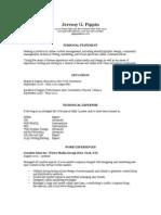Resume (Jeremy G. Pippin)