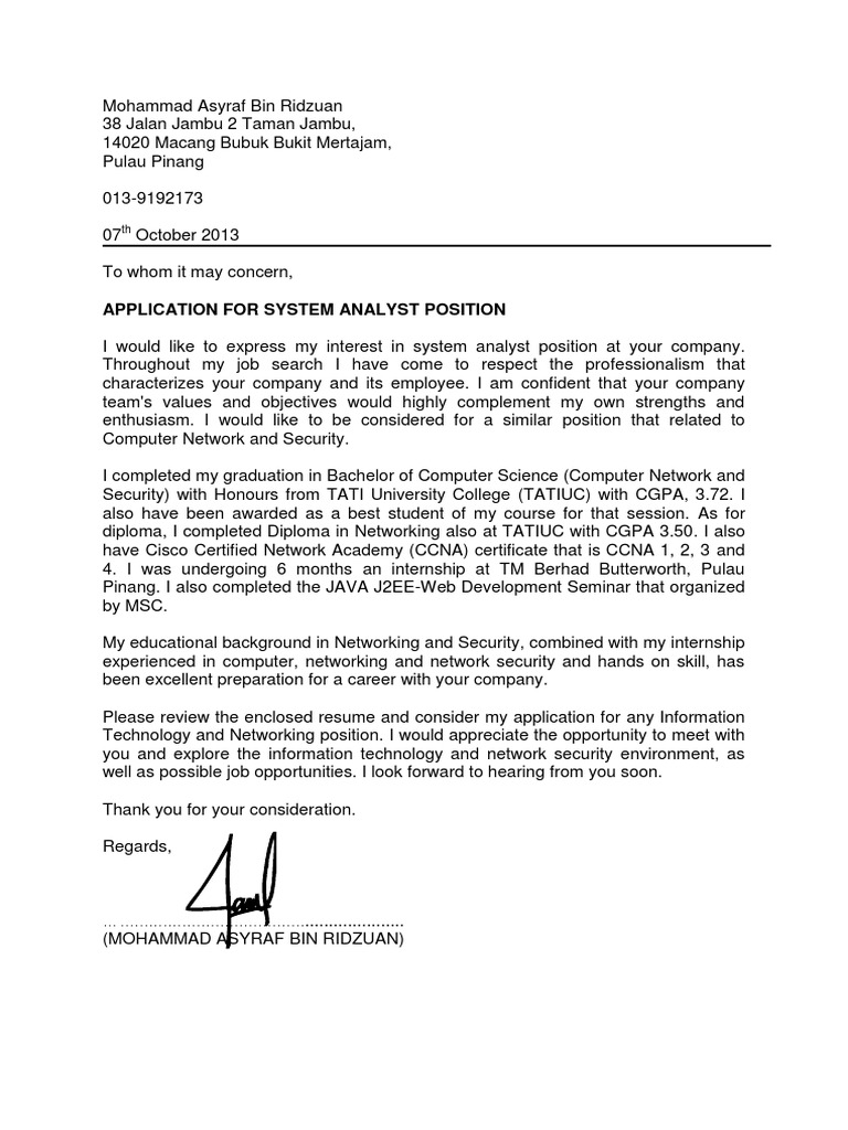 Cover Letter- System Analyst.pdf