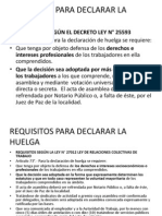 Requisitos Para Declarar La Huelga