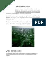 Clases de Ciudades