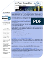 ASME Power 2014 Student Paper Competition