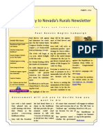 Volume 1 Number 4 Nye-Gateway to Nevada's Rurals Newsletter