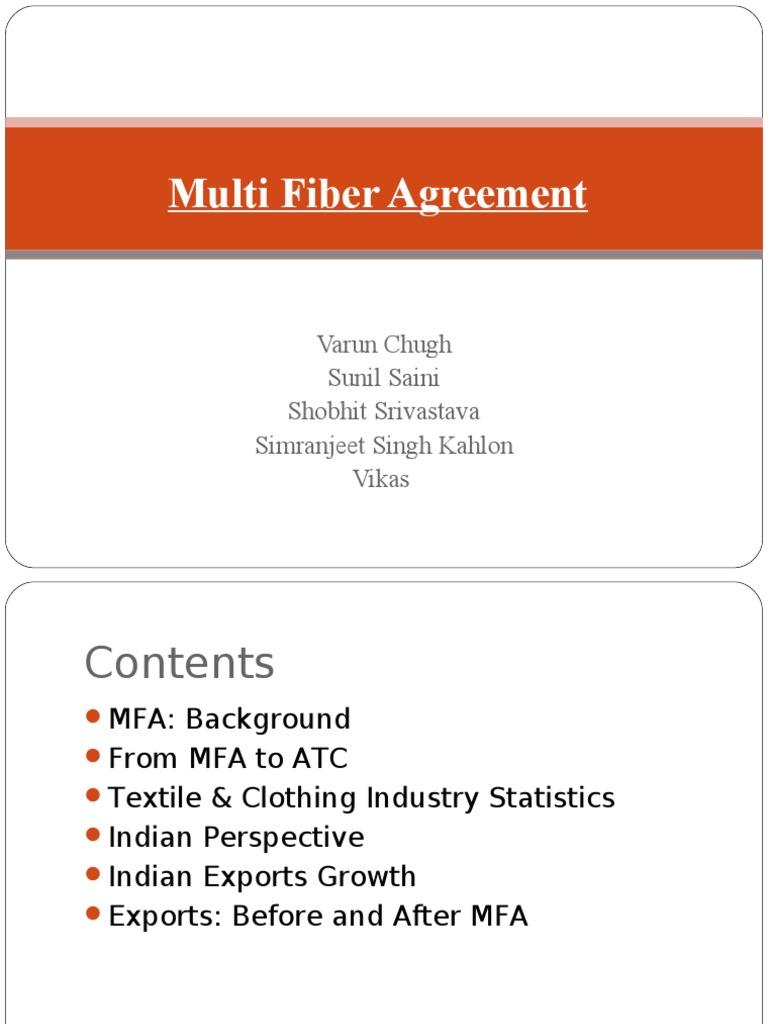 benefit of multi fiber agreement