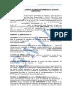 Contrato de Trabajo de Obra Determidada