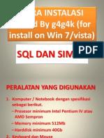 cara install lengkap sql di win7