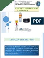 LLENADO MINIMO USP36