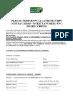 Plan de Trabajo Para La Proteccion Contra Caidas