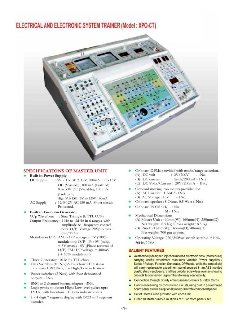 Xpo Ct Electronic Oscillator Amplifier Transistorzener Diode Regulator Circuits