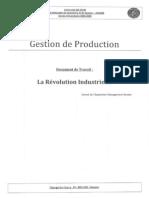 gestion de production - la révolution industrielle [document de travail]