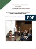 Visita Kenneth Gergen_Oct-2011_Texto Conferencia Español