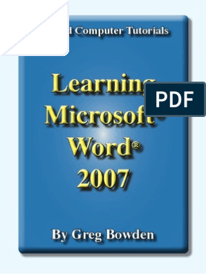 Learning Microsoft Word 2007 - Introduction | Microsoft Word
