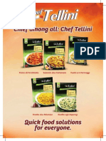 chef tellini pastas  risottos data sheet