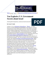 Ten Explosive U.S. Government Secrets about Israel.doc