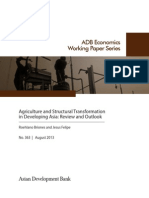 Agriculture and Structural Transformation in Developing Asia