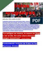 Noticias Uruguayas miércoles 30 de octubre del 2013