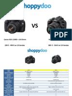 Comparar camaras digitales Canon y Nikon