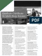 Brochure - Grad Cert in Adult Sleep Science.pdf