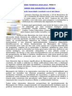 ITINERÁRIO TEMÁTICO 2010-2017, PARA O CENTENÁRIO DAS APARIÇÕES DE FÁTIMA