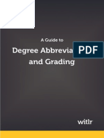 Degree Abbreviations and Grading