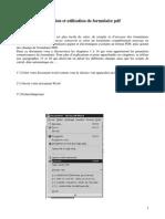 Formulaire PDF