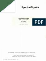 SpectraPhysics SP-164, SP-165 & SP-168 Service Manual