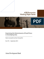 Examining the Determinants of Food Prices in Developing Asia