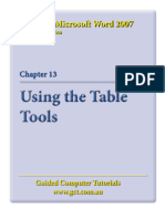 Learning Microsoft Word 2007 - Table Tools