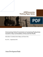 Overcoming Critical Constraints to Sustaining Productivity Growth in Key Commodities of Asia and the Pacific