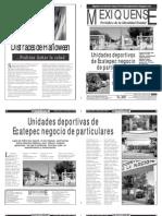 Versión impresa del periódico El mexiquense  30 octubre 2013