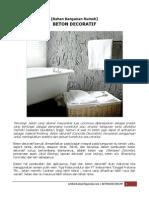 [Bahan Bangunan Rumah] Beton Decoratif.pdf