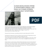 Foto Kronologis Kecelakaan Crane Maut Proyek Apartemen Green Lake View Tangerang 2013 Nama Korban Kecelakaan Crane Maut Apartemen