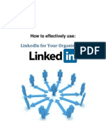 How To Effectively Use LinkedIn For Your Organisation.pdf