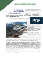 Sistema Para La Deteccion de Descarrilamiento y El Frenado Automatico Del Tren