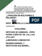 Dolares y Bolivares