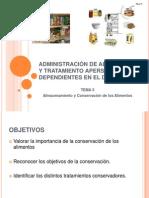 5 Almacenamiento y Conservación de los Alimentos