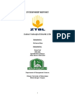 internship report on ztbl by fahad saif chauhdary.(MBA finance)