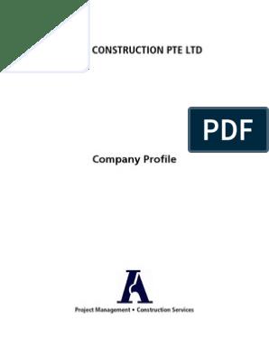 ABLE Construction Pte Ltd - Company Profile pdf | Project