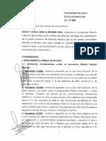 Vocalía rechaza pedido de arresto domiciliario de Alberto Fujimori